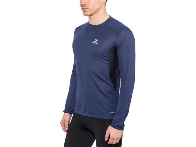 Salomon Trail Runner Running Shirt longsleeve Men blue